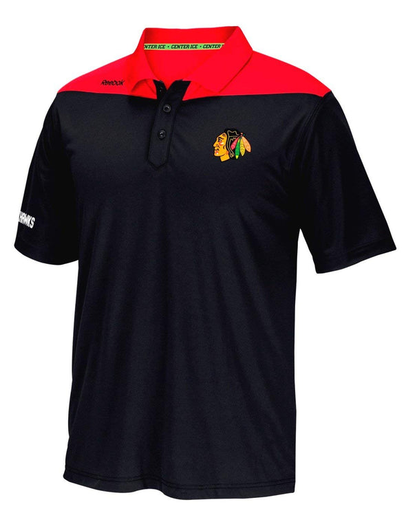 Reebok NHL Men's Chicago Blackhawks 2016 Center Ice Statement Speedwick Polo