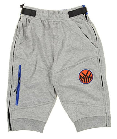 Zipway NBA Men's New York Knicks French Terry Tearaway Jogger Shorts, Grey