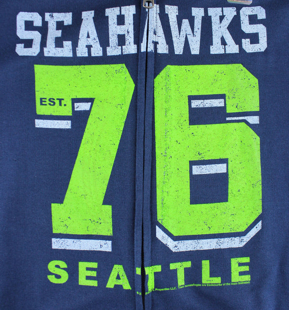 Seattle Seahawks NFL Womens Established 1976 Full Zip French Terry Hoodie