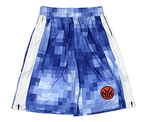 Zipway NBA Men's New York Knicks Pixel Mesh Athletic Shorts