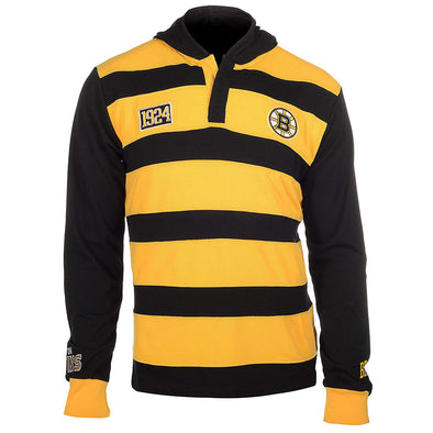 KLEW Men's NHL Boston Bruins Cotton Rugby Hoodie Shirt
