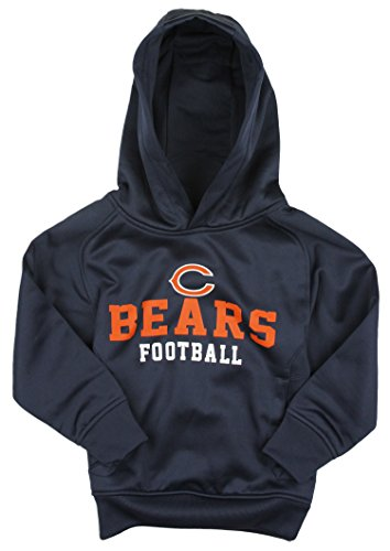 NFL Little Boys Kids Chicago Bears Team Performance Pullover Hoodie, Navy