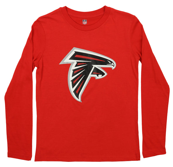 Outerstuff NFL Youth Atlanta Falcons Primary Logo Long Sleeve Tee