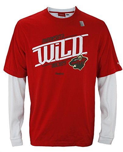 Reebok NHL Men's Minnesota Wild Long Sleeve Novelty Thermal Shirt, Red / White