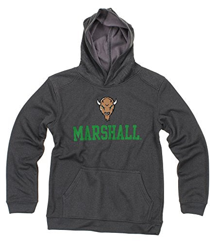 NCAA Youth Marshall Thundering Herd Performance Hoodie, Gray