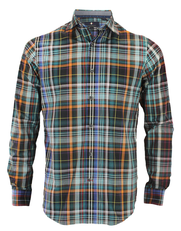 Argyle Culture Men's Button Up Plaid Shirt, Multi