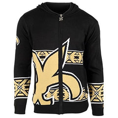 Forever Collectibles NFL Men's New Orleans Saints Full Zip Hooded Sweater, Black