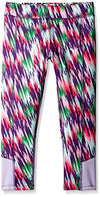 Puma Kids / Youth Girls Techno Dash Print Capri Legging, Winner Lilac