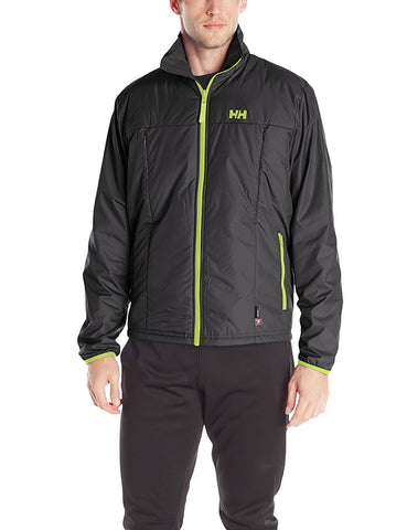 Helly Hansen Men's Regulate Lightweight Midlayer Jacket, Black/Lime