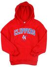 NBA Littke Kids / Youth Los Angeles Clippers Fleece Pullover Sweatshirt Hoodie, Red