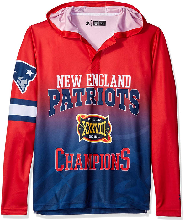 Forever Collectibles NFL Men's New England Patriots Super Bowl Champions Hooded Tee