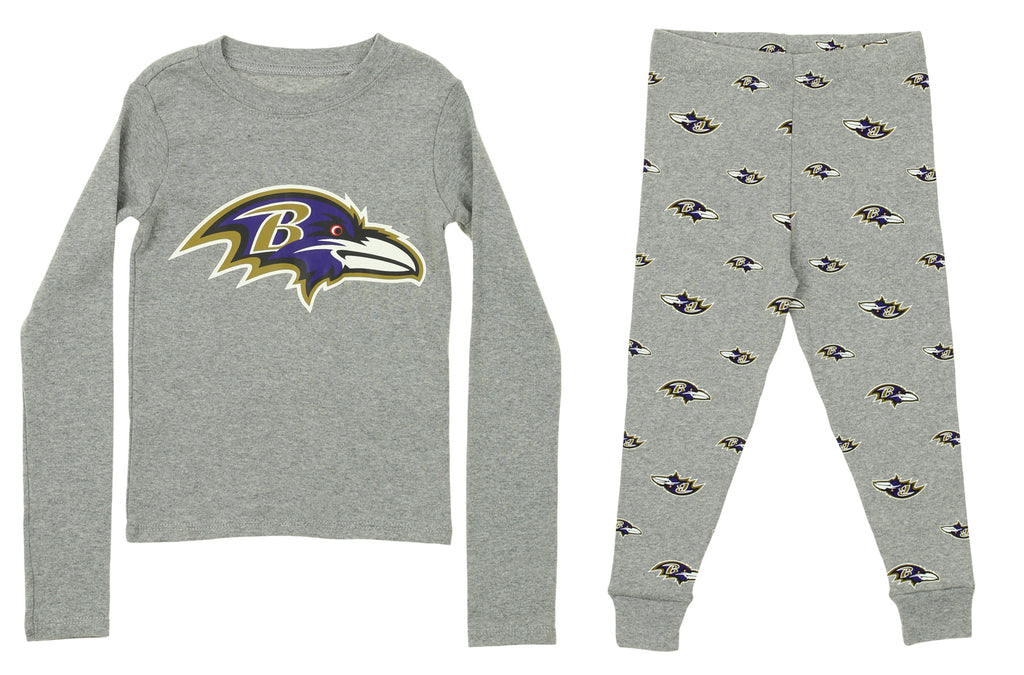 a1340018 OuterStuff NFL Toddlers Baltimore Ravens Long Sleeve Tee and Pant Sleep Set