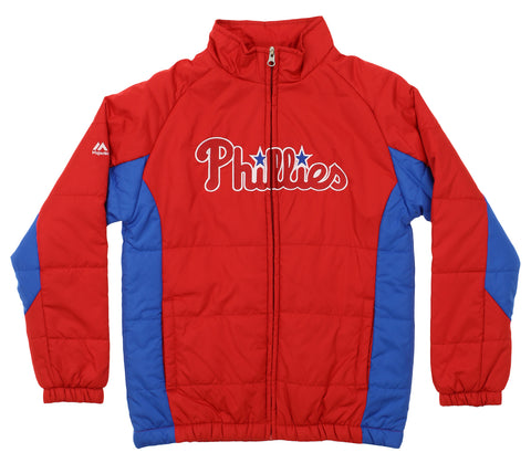 Majestic MLB Youth Philadelphia Phillies Double Climate Full Zip Jacket