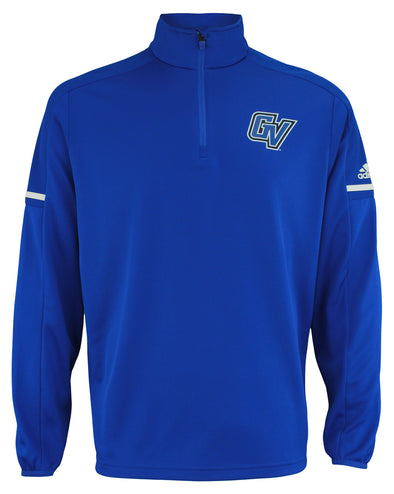 adidas NCAA Men's Grand Valley State Lakers Team Logo 1/4 Zip Pullover, Blue