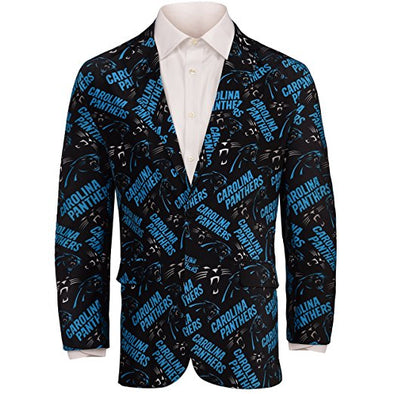 Forever Collectables NFL Men's Carolina Panthers Ugly Business Jacket, Black