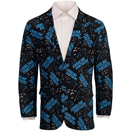 pretty nice a53c8 e7190 Forever Collectables NFL Men's Carolina Panthers Ugly Business Jacket, Black