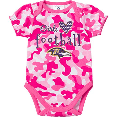 Gerber NFL Infant Girls Baltimore Ravens Camo Bodysuit