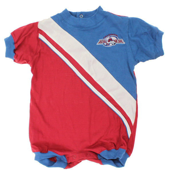 NHL Infant Colorado Avalanche Embroidered Romper, Burgundy / Blue