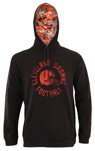 Zubaz NFL Men's Cleveland Browns Camo Lined Pullover Hoodie