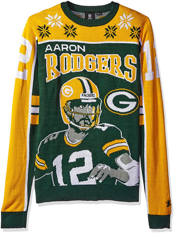 250856616 KLEW NFL Men s Green Bay Packers Aaron Rodgers  12 Ugly Sweater