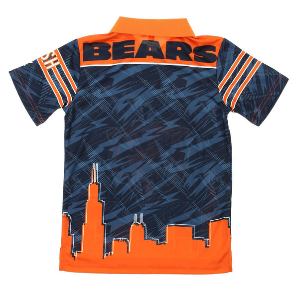 NFL Youth Chicago Bears City Poly Polo, Navy / Orange