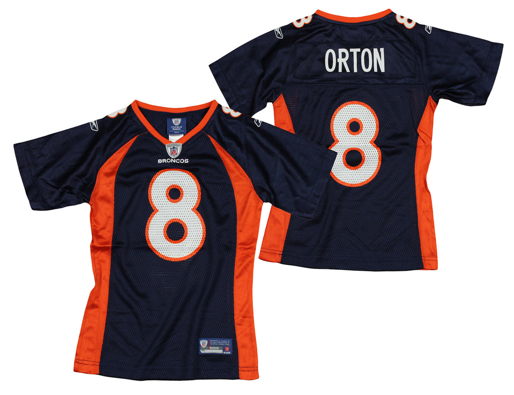 wholesale dealer 9bfb0 3056a Reebok NFL Youth Girls Denver Broncos Kyle Orton #8 Replica Jersey, Navy