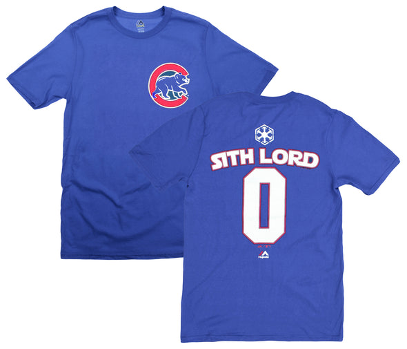 MLB Youth Chicago Cubs Star Wars Sith Lord #0 T-Shirt, Royal Blue