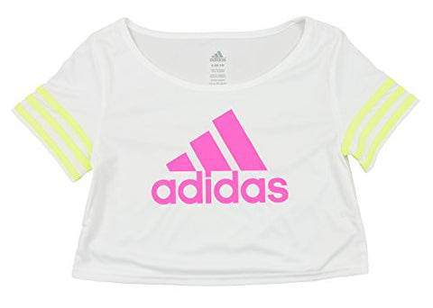 Adidas Youth Girls Crop Top Flow Dance Tee Shirt - Many Colors