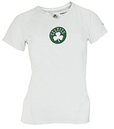 Adidas NBA Women's Boston Celtics Short Sleeve Climalite T-Shirt, White