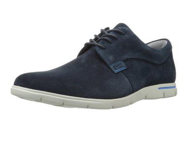 Clarks Men's Denner Motion Suede Oxford Shoes - Navy and Taupe