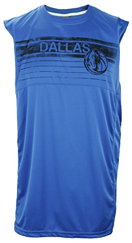 Zipway NBA Basketball Men's Dallas Mavericks Sleeveless Muscle Shirt, Blue