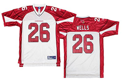 Arizona Cardinals NFL Football Men's Beanie Wells # 26 Replica Jersey - White / Red