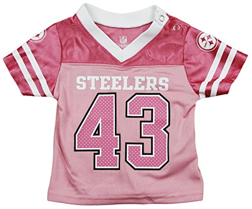 wholesale dealer 7b9fb 60637 NFL Football Infants Pittsburgh Steelers Troy Polamalu #43 Jersey - Pink