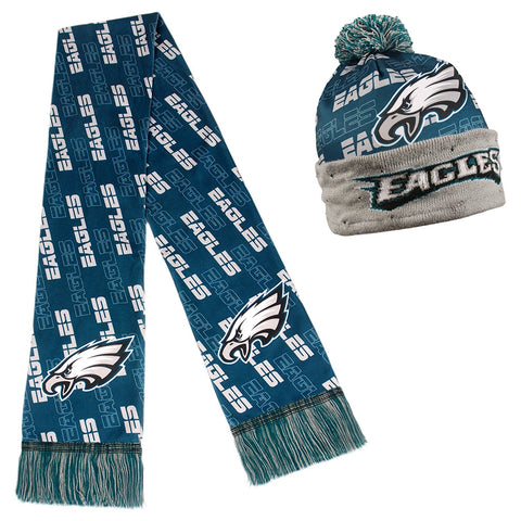 Forever Collectibles NFL Adult's Philadelphia Eagles Light Up Beanie And Scarf Set