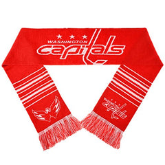 Forever Collectibles NHL Washington Capitals 2 Sided Knit Wordmark Logo Scarf