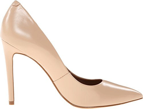 Steve Madden Women's Proto Fashion Pump Classic Pointed Toe Heels, Blush Leather