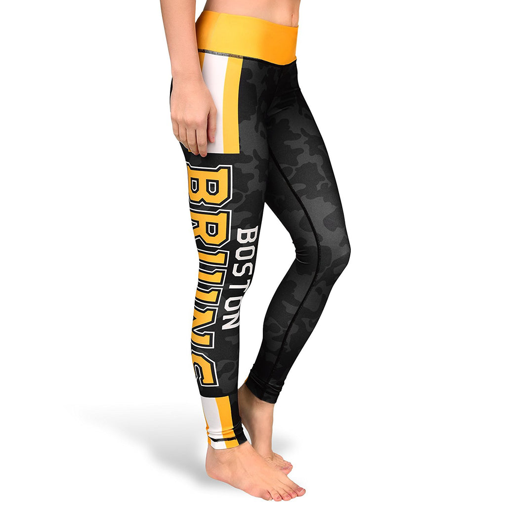 00ad4a92 Forever Collectibles NHL Women's Boston Bruins Stripe Leggings