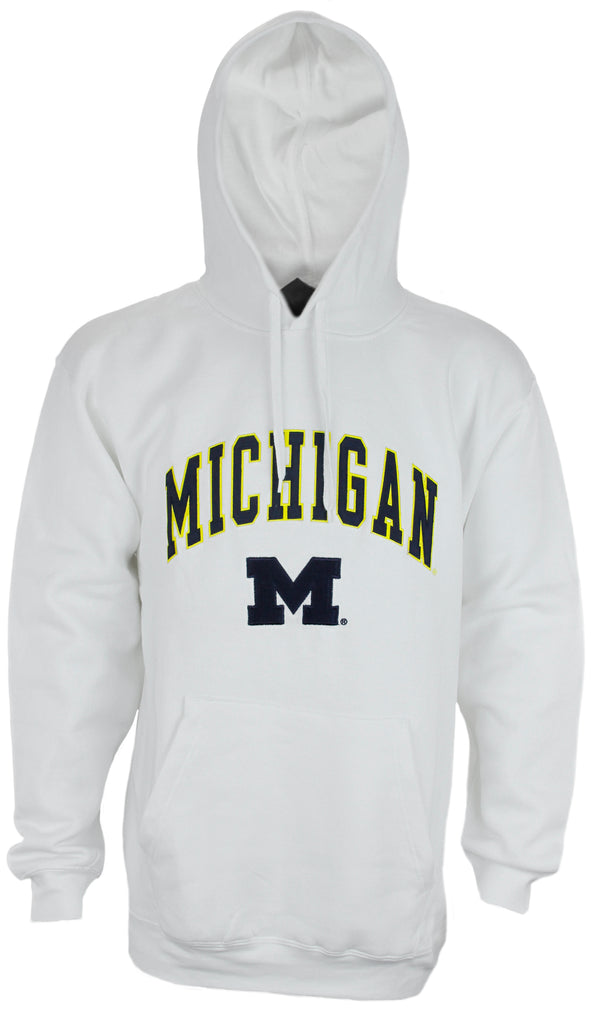 Genuine Stuff NCAA Men's UofM Michigan Wolverines Pullover Fleece Sweatshirt Hoodie