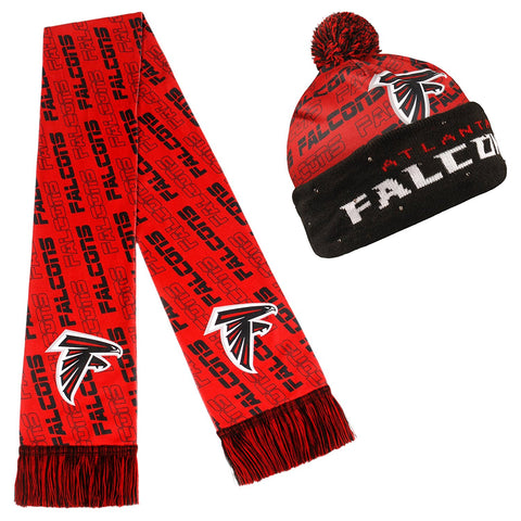 separation shoes ecdaf 4cd71 Forever Collectibles NFL Adult s Atlanta Falcons Light Up Beanie And Scarf  Set