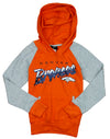 NFL Youth Girl's Denver Broncos Crafted Pullover Sweatshirt Hoodie, Orange