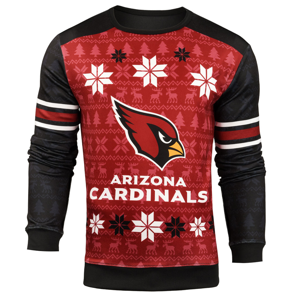 Forever Collectibles NFL Men's Arizona Cardinals Printed Ugly Sweater