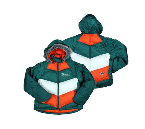 Miami Dolphins NFL Football Women's 4-in-1 Winter Coat