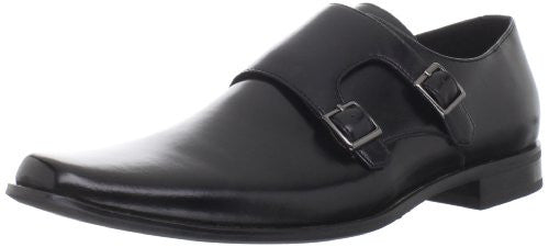 Stacy Adams Men's Broderick Leather Slip-On Dress Buckle Shoes, Black