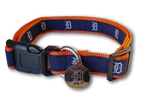 Sporty K9 MLB Detroit Tigers Ribbon Dog Collar
