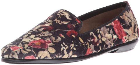 Aerosoles Women's Betunia Slip-on Loafer, Black Floral