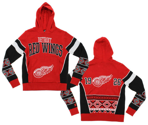 a79b353e NHL Youth Detroit Red Wings Holiday Ugly Hoodie, Red / Black