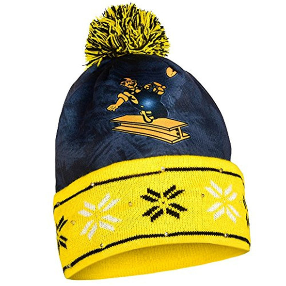 FOCO NFL Unisex Adult Pittsburgh Steelers Light Up Logo Knit Beanie