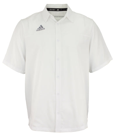Adidas Men's Team Iconic Full Button Polo - Color Options