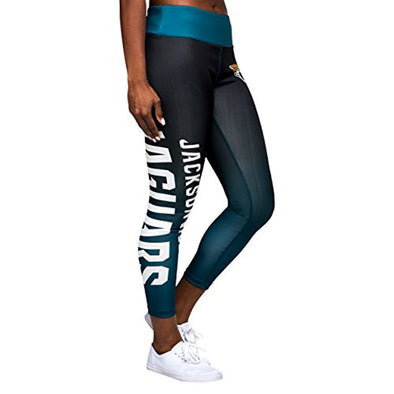 Forever Collectibles NFL Women's Jacksonville Jaguars Gradient 2.0 Wordmark Legging