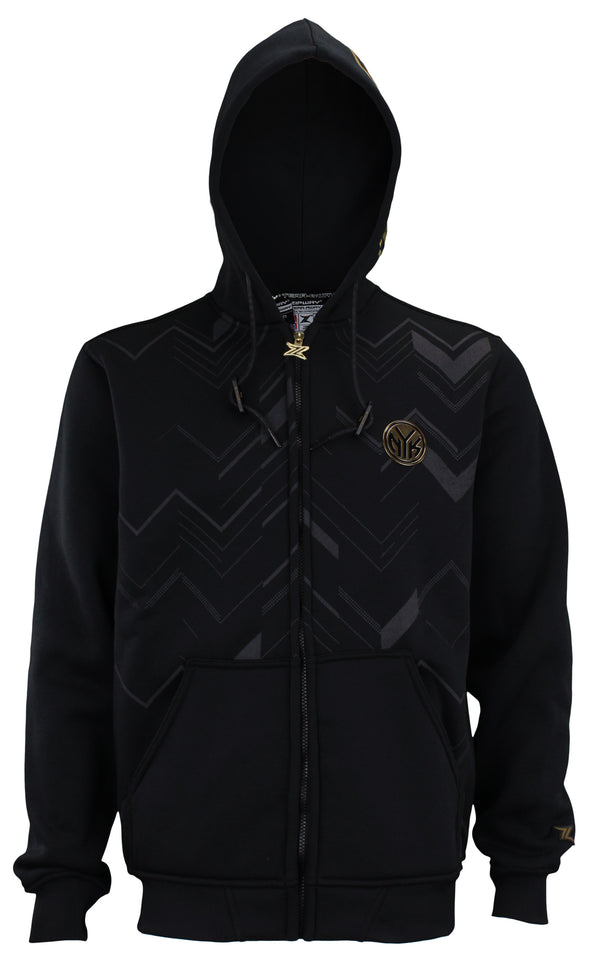 Zipway NBA Men's New York Knicks Signature Black and Gold Full Zip Hoodie